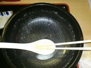 ジャガイモスープラーメン完食後