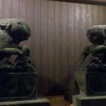 調神社の境内にあった狛兎