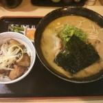 味噌ら〜めん大盛り+豚丼