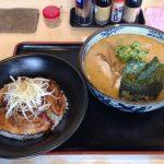 桃福_チャーシュー丼と味噌ら~めん