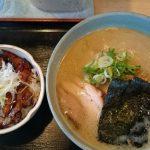 桃福_チャーシュー丼と塩ラーメン